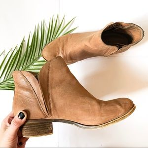 Lucky Brand | Leather Zipper Ankle Booties